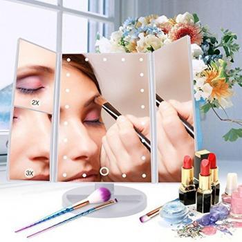 Зеркало для макияжа с подсветкой (FM22X2X3 white)