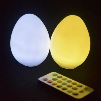 Светодиодный светильник Egg79W2 на батарейках с пультом ДУ (набор 2 шт.)