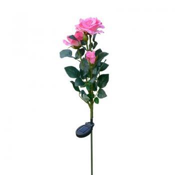 Светодиодный светильник на солнечной батарее Rose pink
